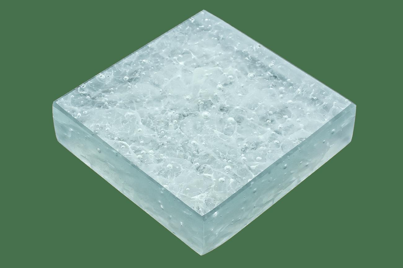 Art Glass Sample - Arctic Dense