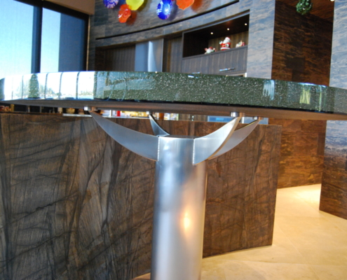 "2"" thick Infinity Bronze Glass Table Top - DT-005"