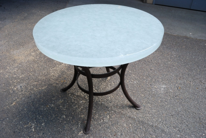 """2"""" thick Arctic Dense Glass Cafe Table - DT-017"""