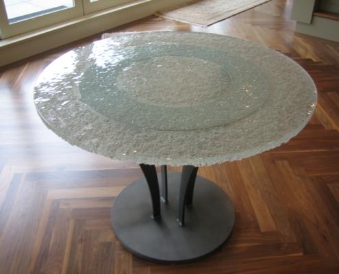 Custom Escala Glass Cafe Table - DT-018