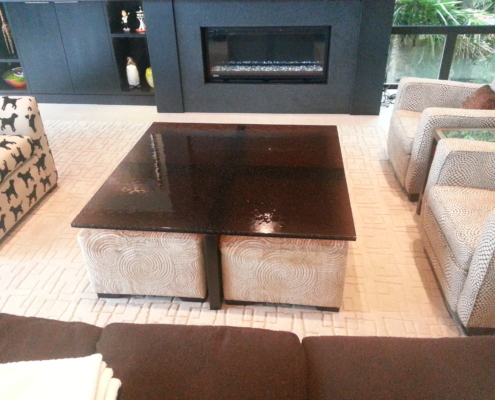 "1"" thick Infinity Bronze Glass Coffee Table - DT-022"