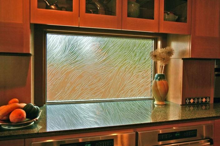 Custom Texture Slump Glass Window - DW-009