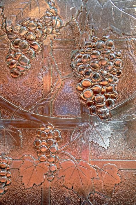 Detail from Slumped Glass Wine Door Panel - DW-011