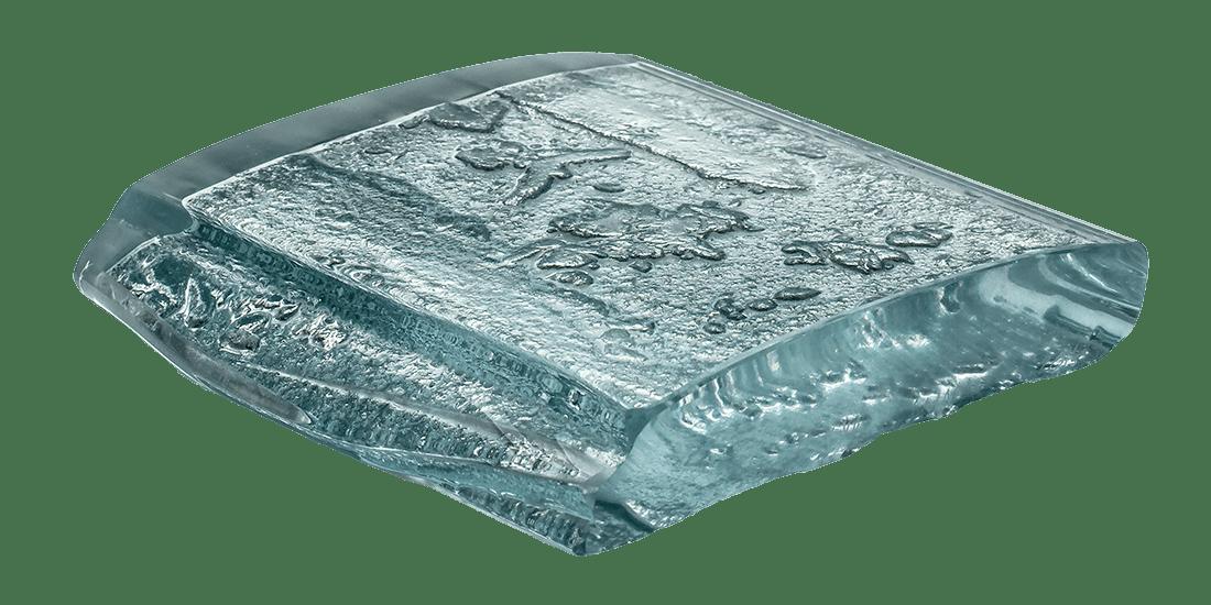 Art Glass Sample - Luna