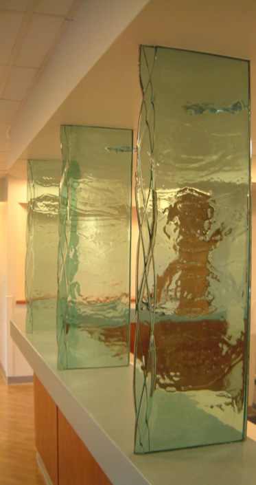 3-layer Midori Vertical Glass Privacy Panels - WP-100