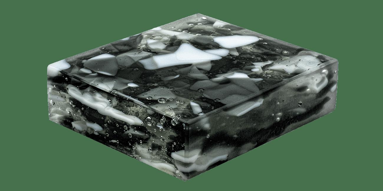 Art Glass Sample - Tuxedo