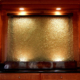 Custom Textured Slumped Glass Interior Water feature - WP-003