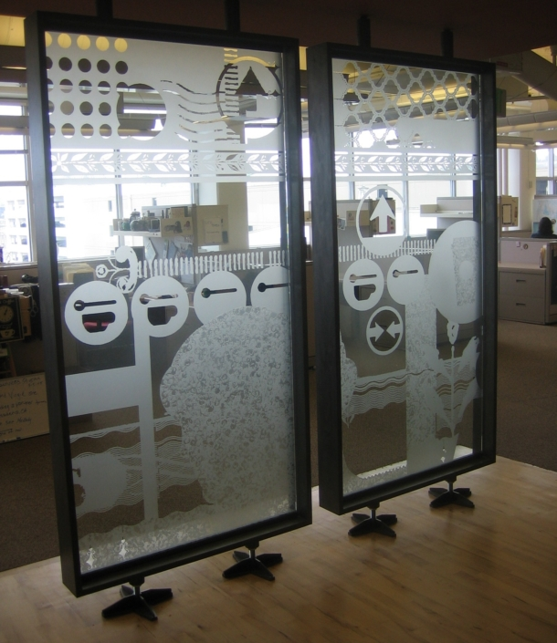 Custom Etch Glass Accent Walls - WP-031