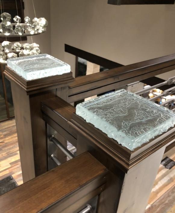 Legacy Glacier Glass Newel Posts